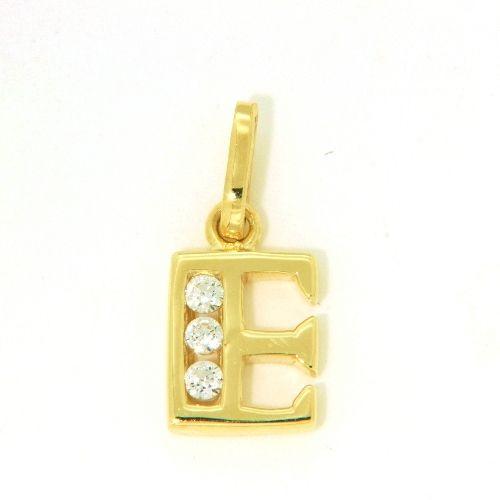 Buchstaben-Anhänger E Gold 333