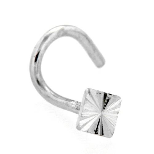 Nasenstecker Silber 925 Viereck mit Spirale