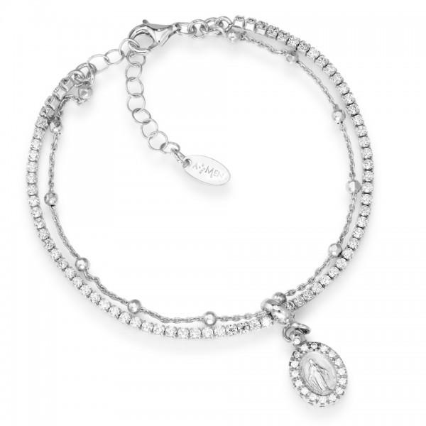 AMEN Armband 16 + 3 cm Silber T2MIBB