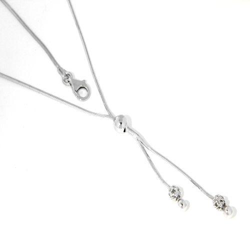 Y-Kette Silber 925 rhodiniert