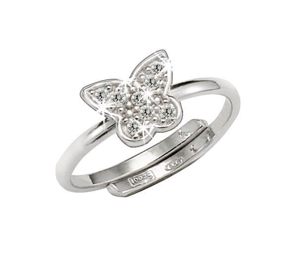SCOUT Ring mit Zirkonia Schmetterlinge 263014100