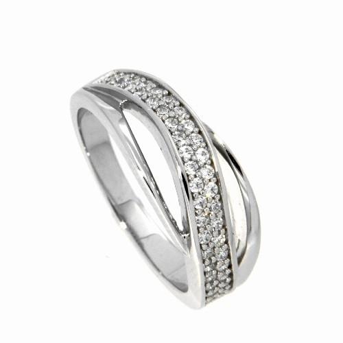 Ring Silber 925 rhodiniert Weite 68