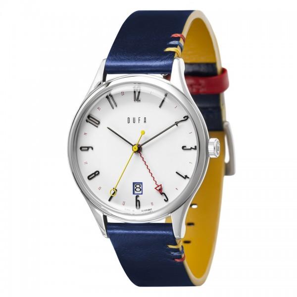 DUFA Armbanduhr Weimar GMT 100 Jahre Bauhaus DF-9006-0C