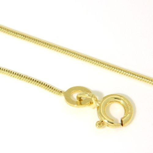 Schlangenkette Gold 333 0,8mm 8-kantig 40 cm