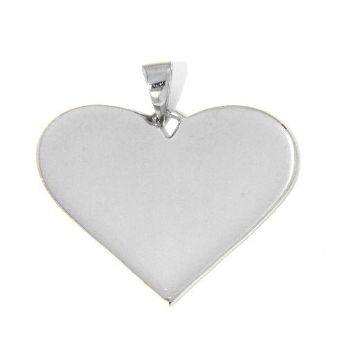 Gravurplatte Silber 925 rhodiniert Herz