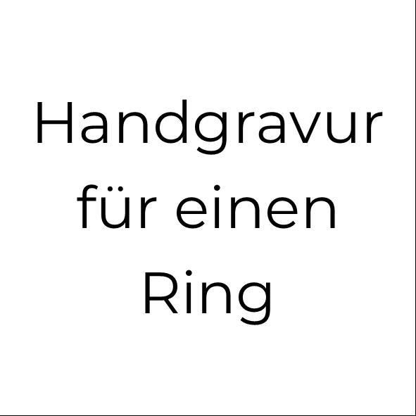 Handgravur für 1 Silberring (bis 12 Zeichen)