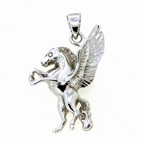 Anhänger Silber 925 rhodiniert Pegasus