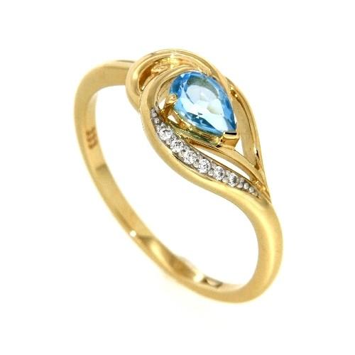 Ring Gold 333 Blautopas Zirkonia Weite 54