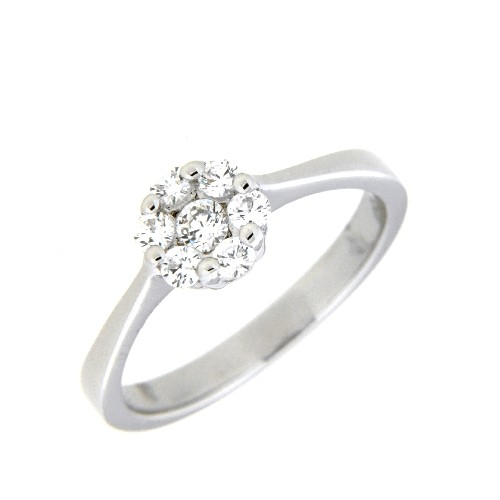 Ring, Silber 925 rhodiniert Weite 56