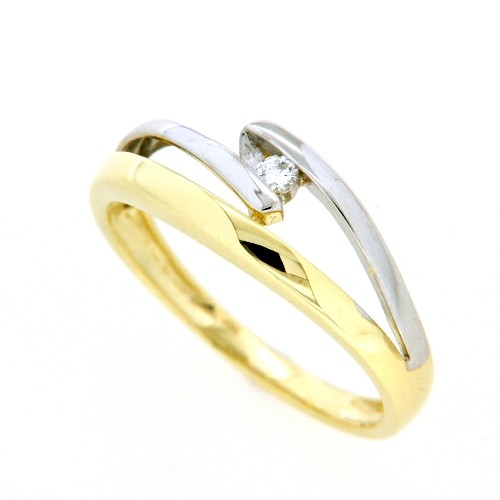 Ring Gold 333 bicolor Weite 62