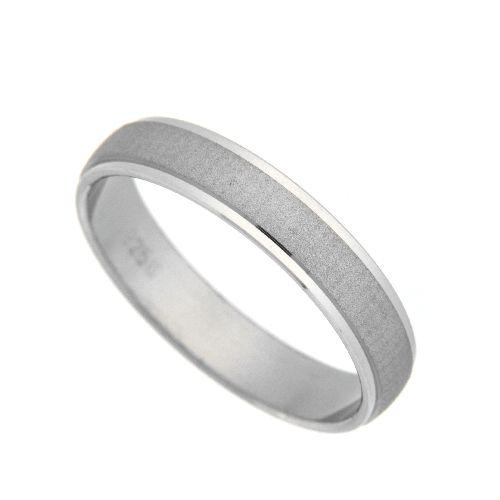 Freundschaftsring Silber 925 rhodiniert Breite 4 mm Weite 52