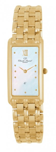 Claude Pascal Armbanduhr Damen Gold 585 2944160 PM