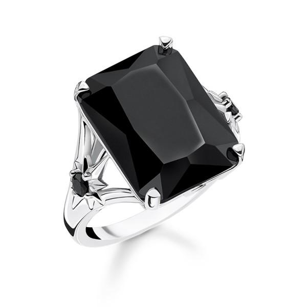 Thomas Sabo Ring Stein schwarz Größe 48 TR2261-641-11-48