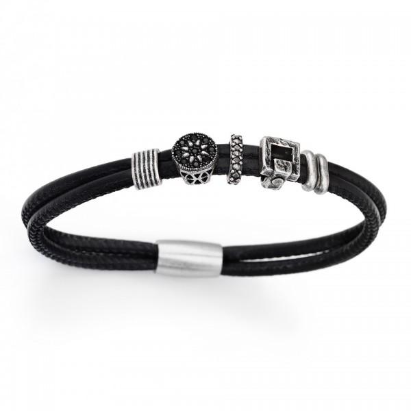 AMEN Armband 20,5 cm Leder BR402-L