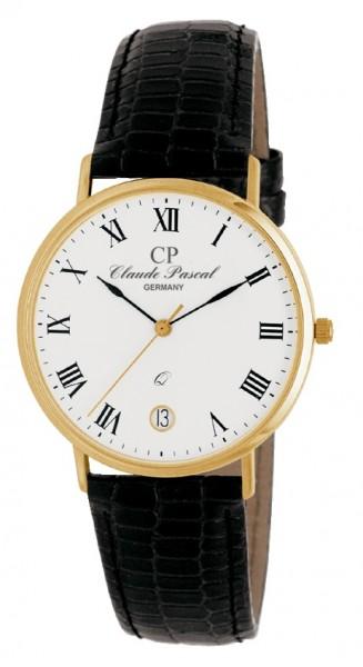 Claude Pascal Armbanduhr Herren Gold 585 394287 ER