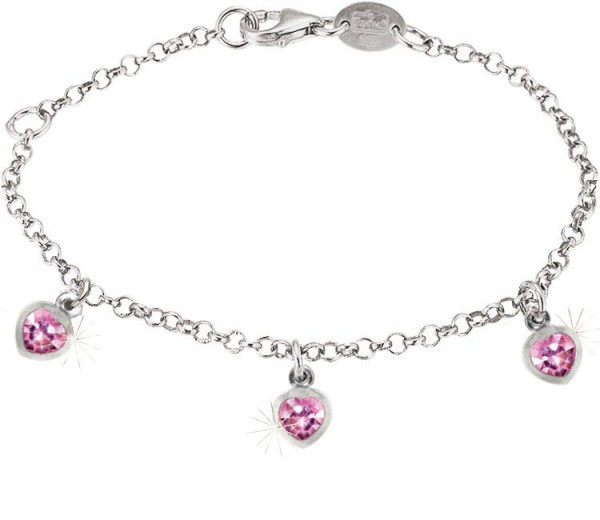 SCOUT Armband silber, pink Herz 260210100