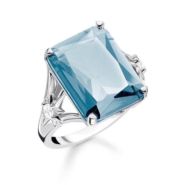 Thomas Sabo Ring Stein blau Größe 48 TR2261-644-31-48
