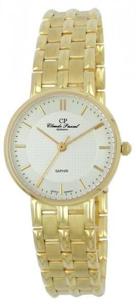 Claude Pascal Armbanduhr Damen Gold 585 2944145 WK