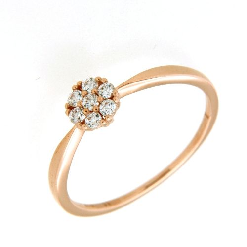 Ring Rotgold 333 Zirkonia Weite 58