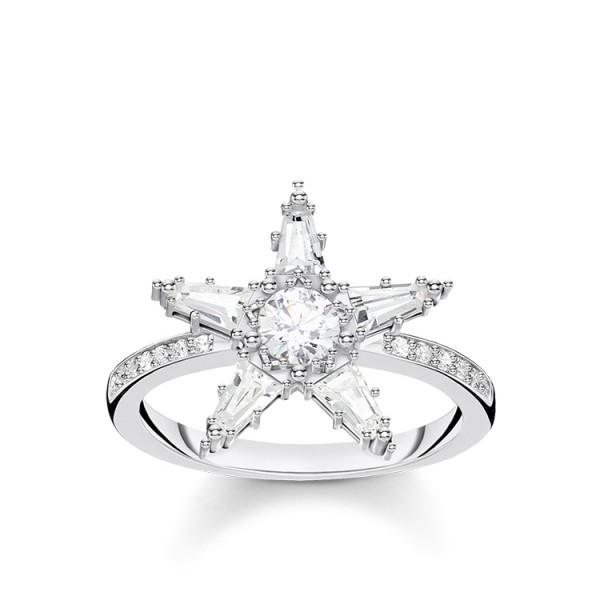 Thomas Sabo Ring Stern groß Größe 52 TR2271-051-14-52
