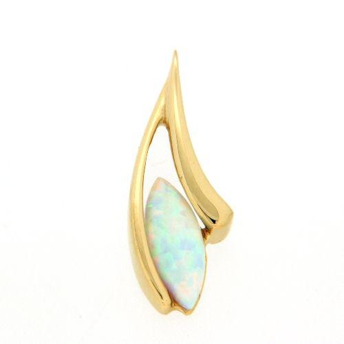 Anhänger Gold 375 synthetischer Opal