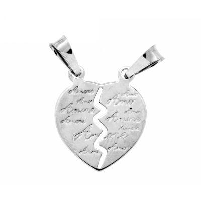 Partneranhänger Silber 925 rhodiniert