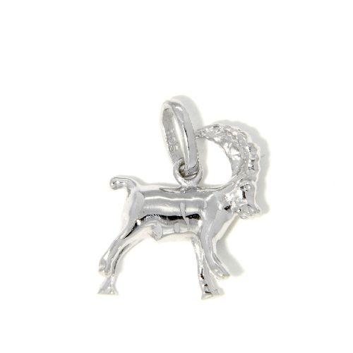 Tierkreiszeichen Silber 925 Steinbock rhodiniert