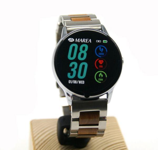 MAREA Smart Watch B58001/2 mit LAiMER Holzarmband UB92