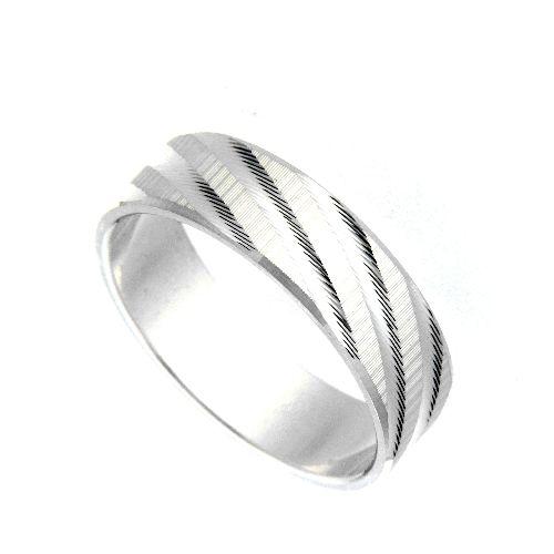 Freundschaftsring Silber 925 Breite 6 mm Weite 59