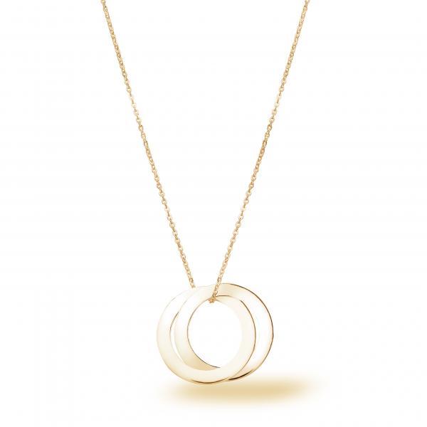 Beka&Bell Family Kette 2 Ringe vergoldet 42-45 cm gravierbar