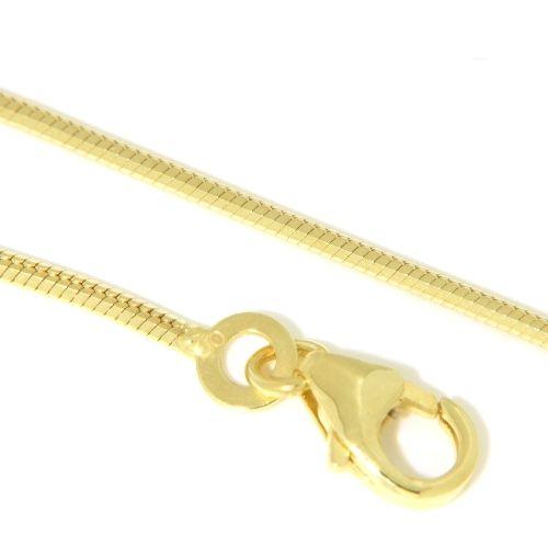 Schlangenkette Gold 333 1,0mm 8-kantig 40 cm