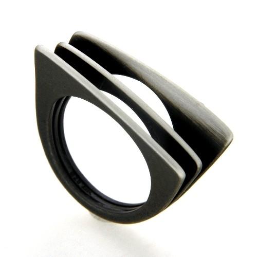Ring Silber 925 oxidiert Weite 56