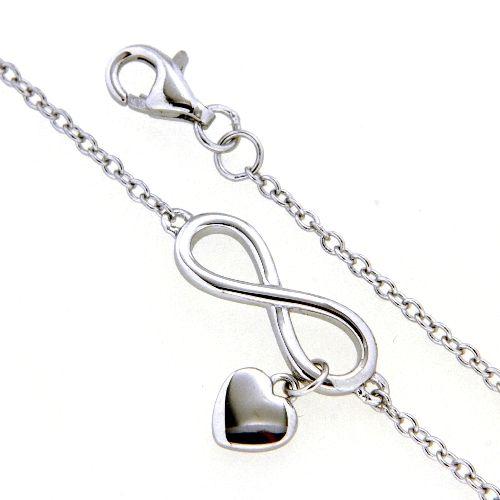 Armband Silber 925 rhodiniert 17 + 2 cm