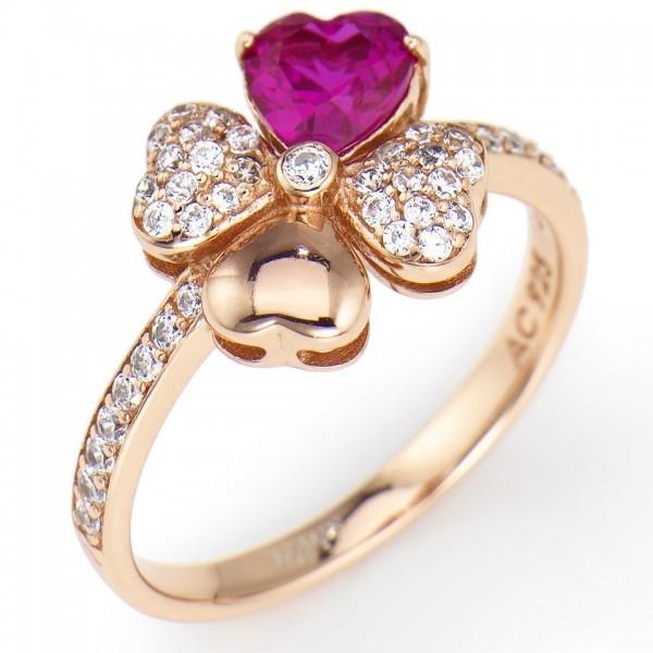 AMEN Ring Silber Herz Gr. 58 RQURR-18