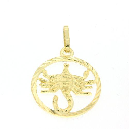 Tierkreiszeichen Gold 333 Skorpion