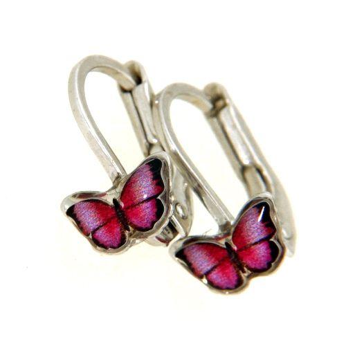 Bouton Silber 925 rhodiniert Schmetterling