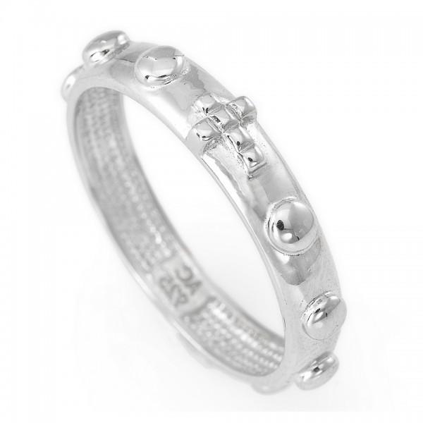 AMEN Ring Silber Kreuz Gr. 58 AROB-18