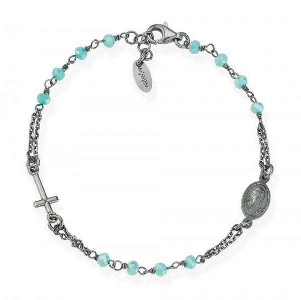 AMEN Armband 18 + 2 cm Silber BRONT3