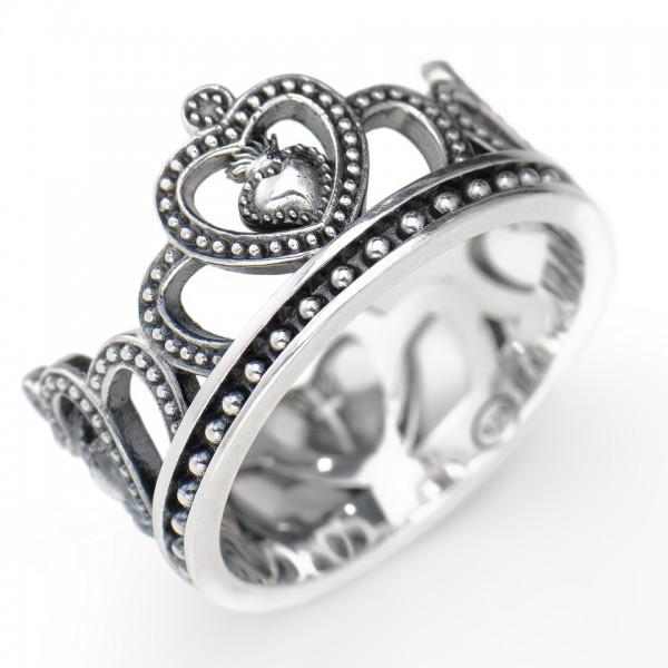 AMEN Ring Silber Krone Gr. 58 ACO-18