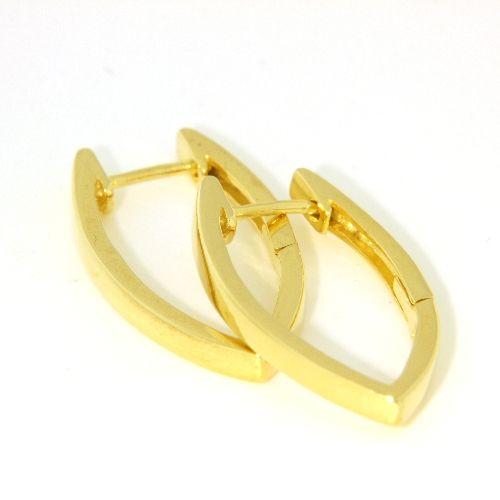 Creolen Silber 925 gelb vergoldet