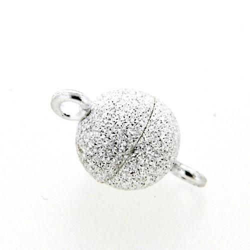 Magnetverschluss Silber 925 Kugel 8 mm