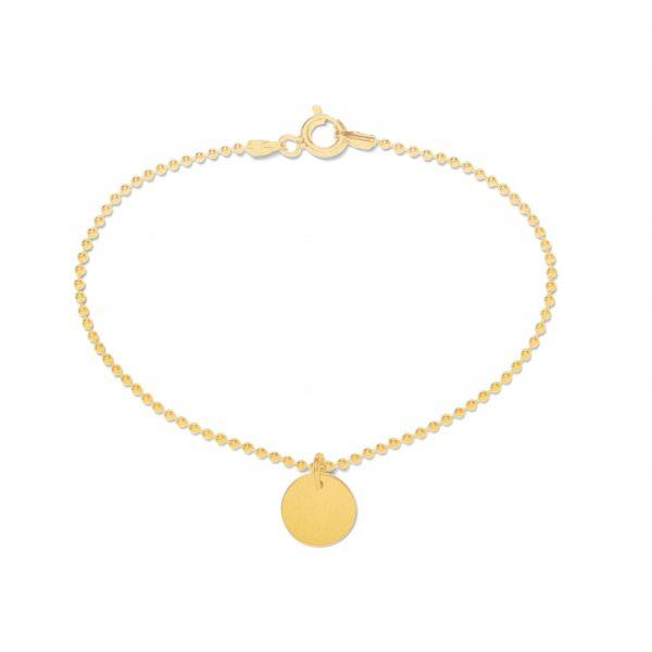Beka&Bell Armband mit Plättchen gravierbar 19 cm vergoldet