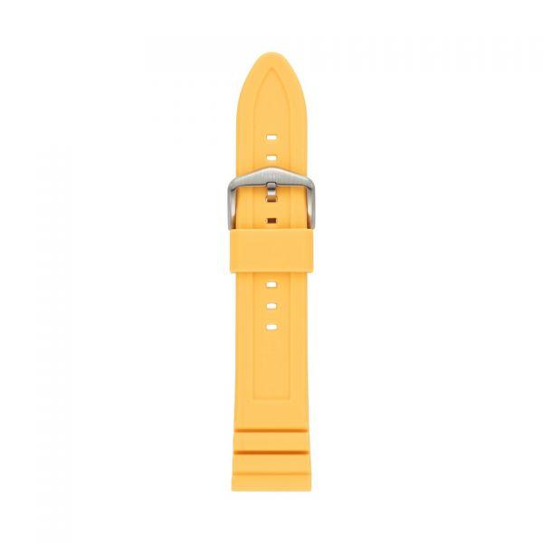 FOSSIL Uhrarmband Silikon gelb S221442