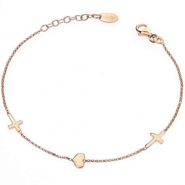 AMEN Armband 17 + 2 cm Silber BRCHR