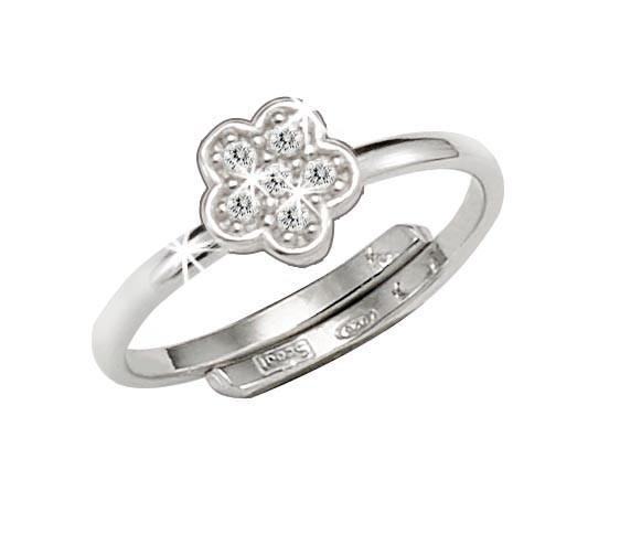 SCOUT Ring mit Zirkonia Blumen 263012100