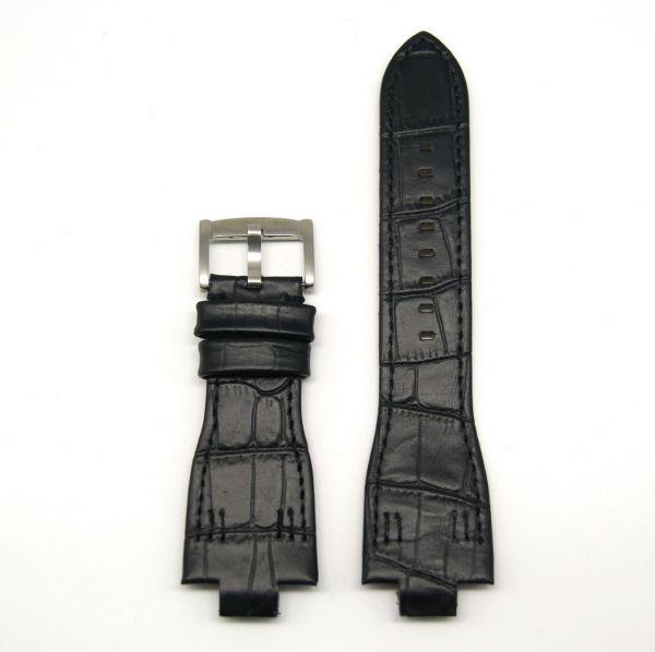 Original Ersatzarmband OFFICINA DEL TEMPO BAP2820M480019 für OT1030 Leder schwarz