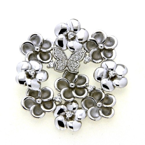 Anhänger Silber 925 rhodiniert mit Schmetterling