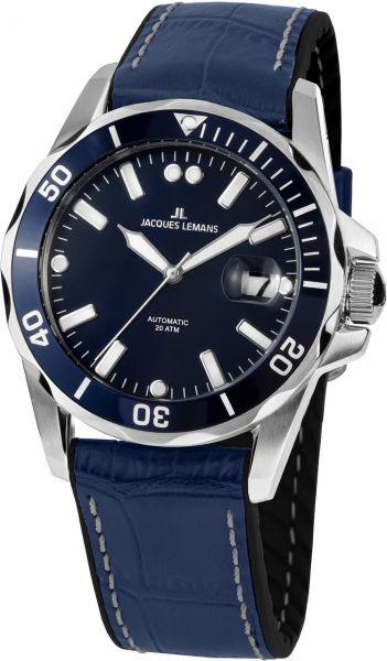 Jacques Lemans Herren-Armbanduhr Liverpool Diver Automatik 1-2089C