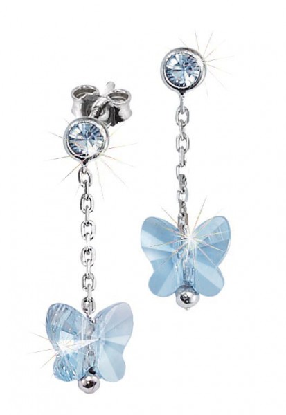 SCOUT Ohrschmuck silber,blau Schmetterlinge 262164100