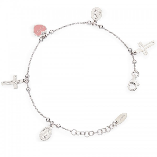AMEN Armband 15 + 2 cm Silber BRMC